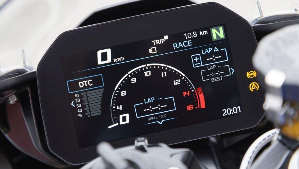 BMW S1000RR Dash