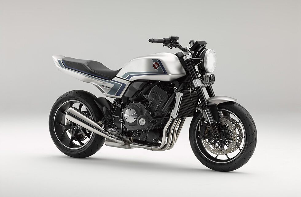World Premiere of concept model Honda CB-F Concept